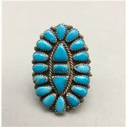 Vintage Cluster Turquoise Style Ring