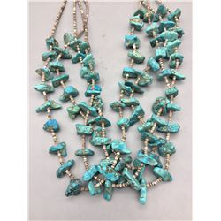 Vintage Four Strand Turquoise and Heishi Necklace