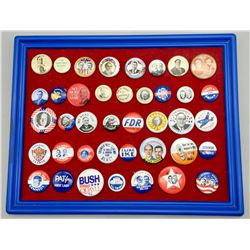 Group of 41 Vintage Campaign Buttons