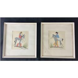 Two Harrison Begay Paintings