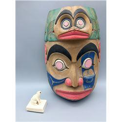 Northwest Coast Mask and Ivory Carving