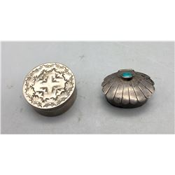 Two Sterling Silver Boxes