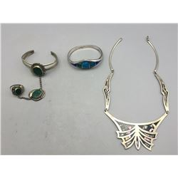 Group of Three Sterling Silver Jewelry Items