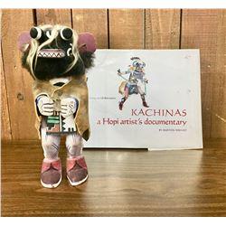 Circa 1960s Hopi Kachina with Book