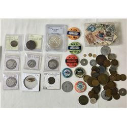 Miscellaneous Coins Stamps Buttons etc.