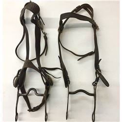 Two Old Cowboy Headstalls