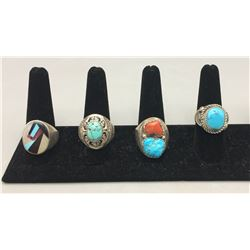 Group of Four Vintage Rings