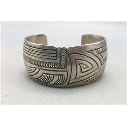 Sterling Silver Bracelet with Unique Stamp Work