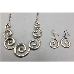Unique Sterling Silver Necklace Set