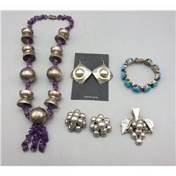 Group of Sterling Silver Jewelry - Mexico
