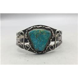 Vintage Turquoise and Sterling Silver Bracelet