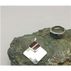 Ray Tracey Pendant and Ring