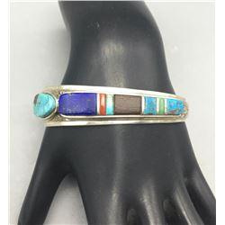 Unique Hopi Bracelet by Marlin Honhonya