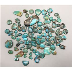 Approximate 945 ct. Turquoise Cabochons
