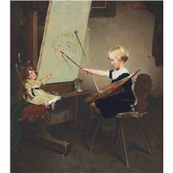 """Norman Rockwell """"ARTIST DAUGHTER (Encore Edition)"""""""
