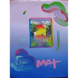 """Peter Max """"A BETTER WORLD (Pink/Blue)"""""""