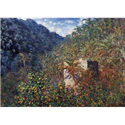 Claude Monet - The Valley Sasso, Bordighera