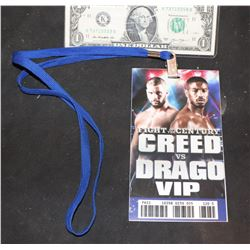 CREED VS DRAGO SCREEN USED VIP PASS 3