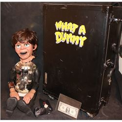 WHAT A DUMMY COMPLETE ANIMATRONIC MAIN HERO PUPPET WITH WIG IN ROAD CASE
