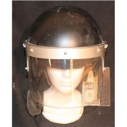 POLICE RIOT HELMET WITH SHIELD FROM UNKNOWN VINTAGE FILM