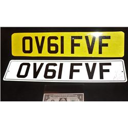 BOND JAMES 007 SKYFALL SCREEN MATCHED DAME JUDI DENCH LICENSE PLATES