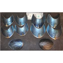 THE GREAT WALL CHINESE WARRIOR PAINTED SHOULDER ARMOR LOT OF 10