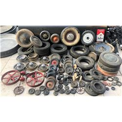 ZZ-CLEARANCE ANTIQUE 30'S - 40'S TOY WHEEL AND TIRE HORDE