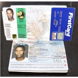 2 GUNS SCREEN USED BOBBY TRENT [DENZEL WASHINGTON] PASSPORT CREDIT CARD AND ID