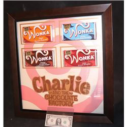 CHARLIE AND THE CHOCOLATE FACTORY SCREEN USED HERO WONKA BARS COMPLETE SET NICELY FRAMED
