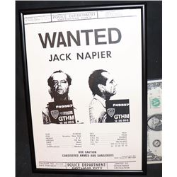 BATMAN 1989 SCREEN USED JOKER JACK NAPIER WANTED POSTER NICELY FRAMED