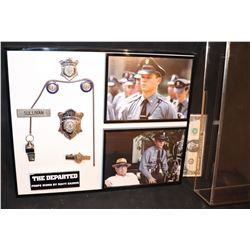 THE DEPARTED MATT DAMON SCREEN MATCHED POLICE BADGES NICELY FRAMED