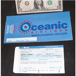 LOST SCREEN USED CHRISTIAN SHEPPARD OCEANIC FLIGHT TICKET WITH ENVELOPE