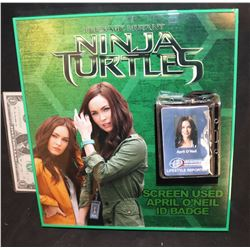 TEENAGE MUTANT NINJA TURTLES SCREEN USED APRIL O'NEIL REPORTER ID NICELY DISPLAYED