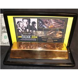 THE ITALIAN JOB SCREEN USED GOLD BAR NICELY DISPLAYED