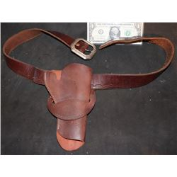 2 GUNS SCREEN USED LEATHER HOLSTER