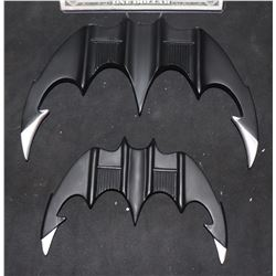 BATMAN BATARANGS SET OFFICIALLY LICENSED WARNER BROTHERS