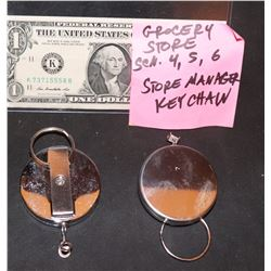 THE WAR WITH GRANDPA SCREEN USED KROGER MANAGERS KEY CHAINS LOT OF 2