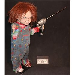 CULT OF CHUCKY SCREEN MATCHED ONE ARM HERO PUPPET HOLDING WORKING HERO DRILL