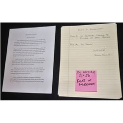 ZZ-CLEARANCE THE WAR WITH GRANDPA SCREEN USED RULES OF ENGAGEMENT LIST