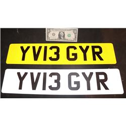 THE KINGSMAN SCREEN MATCHED TAXI LICENSE PLATES