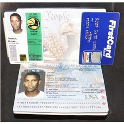 2 GUNS SCREEN USED BOBBY TRENT [DENZEL WASHINGTON] PASSPORT CREDIT CARD AND ID