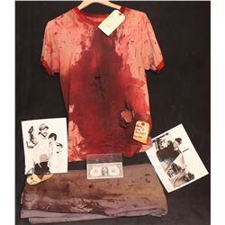 KALIFORNIA EARLY GRACE BRAD PITT SCREEN MATCHED BLOODY DEATH SCENE WARDROBE WITH STUDIO TAGS
