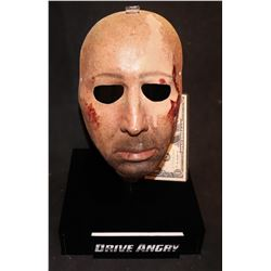 DRIVE ANGRY NICOLAS CAGE BLOODY STUNT MASK ON DISPLAY