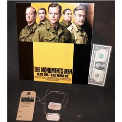 THE MONUMENTS MEN SCREEN USED FRANK STOKES DOG TAGS GEORGE CLOONEY