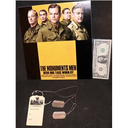 THE MONUMENTS MEN SCREEN USED RICHARD CAMPBELL DOG TAGS BILL MURRAY