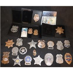 DIRTY HARRY AND OTHER METAL BADGES HUGE HORDE