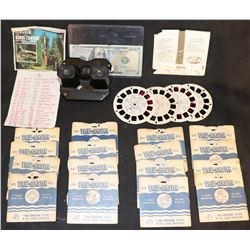 VIEWMASTER TOY FROM 1939 WORLD'S FAIR WITH 20 VINTAGE REALS