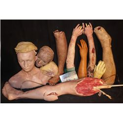 SEVERED HUGE HORDE OF 10 SILICONE BODY PARTS A HAUNT FULL