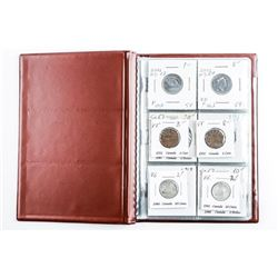 Starter Coin Collection (12) CANADA Coins  with Silver
