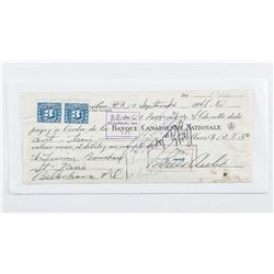 Sept. 1949 Money - Order with 2 - 3 Cent  Excise stamps